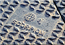 "J3673 : EJ ""Scorpion"" access cover, Belfast - January 2015(2) by Albert Bridge"