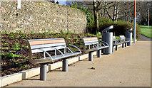 J3673 : New seats and litter bins, Orangefield Park, Belfast (January 2015) by Albert Bridge