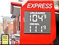 J3373 : Fuel price sign, Belfast (11 January 2015) by Albert Bridge