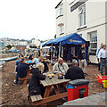 SX9372 : A drink on the back beach while waiting for the band to strike up, Teignmouth by Robin Stott