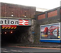 ST2225 : Depiction of the Forth Rail Bridge at the edge of Taunton railway station bridge by Jaggery