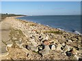 SZ4699 : Lepe, rubble by Mike Faherty