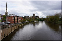 SO8454 : The River Severn at Worcester by Bill Boaden