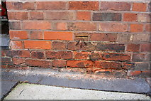 SK5319 : Benchmark on Albert Place wall by Roger Templeman