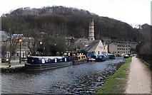 SD9927 : Rochdale Canal, Hebden Bridge Basin by michael ely
