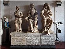 TQ2976 : St Paul, Clapham - Monument by John Salmon