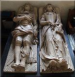 TQ2976 : St Paul, Clapham - Effigies by John Salmon