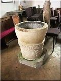 SS7108 : Font, St Bartholomew's Church, Nymet Rowland by Derek Harper