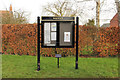 SK8570 : Wigsley noticeboard by Richard Croft