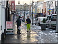 H4572 : Clearing the footpath,Omagh (1) by Kenneth  Allen