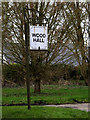 TM2664 : Wood Hall sign by Adrian Cable