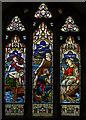 TQ5243 : Stained glass window, St John the Baptist church, Penshurst by J.Hannan-Briggs