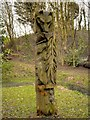 SD5428 : Totem Pole, Frenchwood Knoll Wildlife Garden by David Dixon