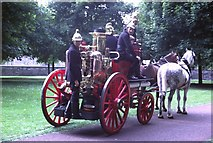 NT2774 : Vintage fire engine, Queen's Park (1982) by kim traynor