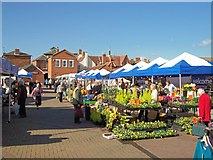TF0920 : Market day at Bourne, Lincolnshire by Rex Needle