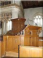 TM2866 : Pulpit of St.Mary's Church by Adrian Cable