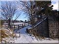 NJ6102 : Access to Deeside Railway footpath by Stanley Howe