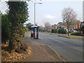 SP1279 : Bus stop, Solihull Road approaching Sharmans Cross, Shirley by Robin Stott