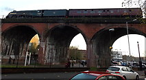 SO8455 : Gresley A4 Pacific on a Worcester viaduct by Jaggery