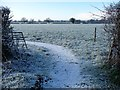 SJ4362 : Entrance to an unmapped footpath off Sandy Lane by Christine Johnstone