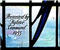 TQ4160 : One of the Stained Glass Windows at the Biggin Hill Battle of Britain Memorial Chapel by Peter Skynner