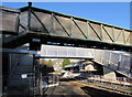 ST0789 : Two footbridges at Pontypridd railway station by Jaggery