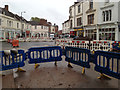 SP3265 : High Street closed for gas main and sewer replacement, Leamington Old Town by Robin Stott