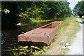 SJ2105 : Barge moored below Belan Bottom Lock, Montgomery Canal by Phil Champion