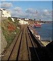 SX9676 : Railway line, Dawlish by Derek Harper