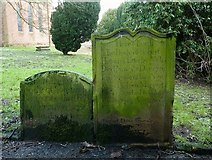 NY4057 : Old Gravestones in St Michael's Churchyard by Mary and Angus Hogg