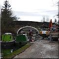 SE2436 : Workboats at Pollard Lane bridge near Newlay, Leeds and Liverpool Canal by Rich Tea