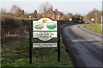 SK5984 : Carlton in Lindrick village sign by Alan Murray-Rust