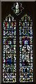 TQ5446 : Stained glass window, St Mary's church, Leigh by Julian P Guffogg