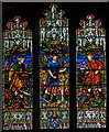 TQ5446 : Stained glass window, St Mary's church, Leigh, Kent by Julian P Guffogg