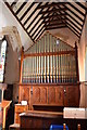 TQ5446 : Organ, St Mary's church, Leigh by Julian P Guffogg