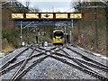 "SD8010 : Tram Beneath ELR ""Ski Jump"" Bridge by David Dixon"