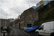 SN1300 : Harbour side buildings at Tenby by Ian S