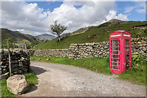 NY2101 : Disused Telephone Box on Way to Hardknott Pass, Cumbria by Christine Matthews