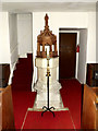 TM4160 : Font of St.Mary the Virgin Church, Friston by Adrian Cable