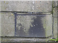 TG5209 : Benchmark on the pier of the old railway bridge by Adrian S Pye