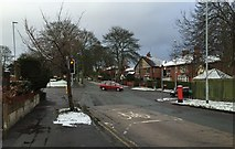 SJ8545 : Hartshill: junction of Albany Road and The Avenue by Jonathan Hutchins