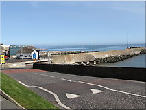 J3113 : Breakwaters at the entrance to Kilkeel Harbour by Eric Jones