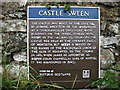 NR7178 : Castle Sween explanatory plaque by David Purchase