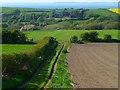 NY0536 : Bridleway and farmland, Dearham by Andrew Smith