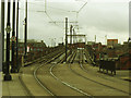 SJ8397 : Metrolink viaduct alongside Manchester Central by Stephen Craven