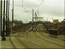 SJ8397 : Metrolink viaduct alongside Manchester Central by Stephen Craven