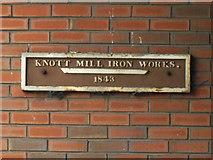 SJ8397 : Knott Mill Iron Works 1843 by Stephen Craven
