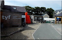 SM7525 : New Street side of Tyf Adventure Shop, St David's by Jaggery