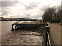 NZ2462 : Disused wharf on the River Tyne by Anthony Foster