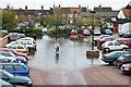 TF0920 : Flooding in the market place at Bourne, Lincolnshire by Rex Needle